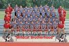 Toppenish Wildcats Boys Varsity Football Fall 17-18 team photo.