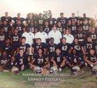 Hayward Farmers Boys Varsity Football Fall 17-18 team photo.