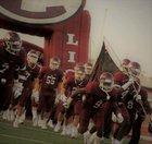 Ennis Lions Boys Varsity Football Fall 17-18 team photo.