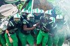Cary Imps Boys Varsity Football Fall 17-18 team photo.