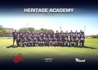 Heritage Academy Heroes Boys Varsity Football Fall 17-18 team photo.