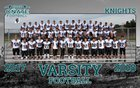 Onate Knights Boys Varsity Football Fall 17-18 team photo.