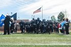 Grandview Wolves Boys Varsity Football Fall 17-18 team photo.