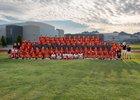 Centennial Hawks Boys Varsity Football Fall 17-18 team photo.