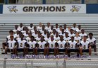 Rocky Mount Gryphons Boys Varsity Football Fall 17-18 team photo.
