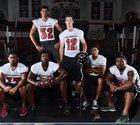 Centennial Huskies Boys Varsity Football Fall 17-18 team photo.