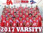 Bel Air Highlanders Boys Varsity Football Fall 17-18 team photo.