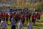 Manchester Regional Falcons Boys Varsity Football Fall 17-18 team photo.