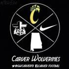 Carver Wolverines Boys Varsity Football Fall 17-18 team photo.