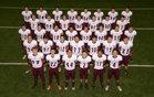 Gentry Pioneers Boys Varsity Football Fall 17-18 team photo.