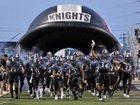 Steele Knights Boys Varsity Football Fall 17-18 team photo.