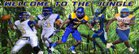 Ozen Panthers Boys Varsity Football Fall 17-18 team photo.