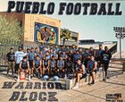 Pueblo Warriors Boys Varsity Football Fall 17-18 team photo.