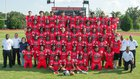 Hephzibah Rebels Boys Varsity Football Fall 17-18 team photo.