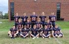 Doniphan West Mustangs Boys Varsity Football Fall 17-18 team photo.