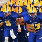 Sahuarita Mustangs Boys Varsity Football Fall 17-18 team photo.
