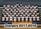 Eagle's Landing Christian Academy Chargers Boys Varsity Football Fall 17-18 team photo.
