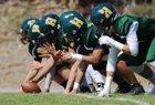 Harbor Pirates Boys Varsity Football Fall 17-18 team photo.