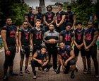 DeMatha Stags Boys Varsity Football Fall 17-18 team photo.
