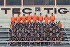 Aztec Tigers Boys Varsity Football Fall 17-18 team photo.