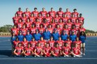 Folsom Bulldogs Boys Varsity Football Fall 17-18 team photo.