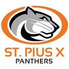 St. Pius X Panthers Boys Varsity Football Fall 17-18 team photo.