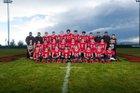 Mountainair Mustangs Boys Varsity Football Fall 17-18 team photo.