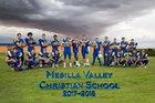 Mesilla Valley Christian School SonBlazers Boys Varsity Football Fall 17-18 team photo.