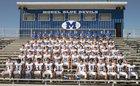 Model Blue Devils Boys Varsity Football Fall 17-18 team photo.