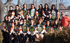Denver West Cowboys Girls Varsity Tennis Spring 17-18 team photo.