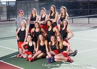 Albuquerque Academy Chargers Girls Varsity Tennis Spring 17-18 team photo.