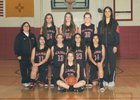 Albuquerque Academy Chargers Girls JV Basketball Winter 15-16 team photo.