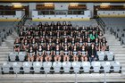 De Queen Leopards Girls Varsity Soccer Spring 17-18 team photo.