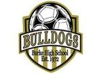 Burke Bulldogs Girls Varsity Soccer Spring 17-18 team photo.