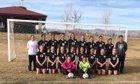 Grand Junction Tigers Girls Varsity Soccer Spring 17-18 team photo.