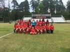 Hermitage Hermits Girls Varsity Soccer Spring 17-18 team photo.