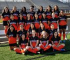 Warren Lumberjacks Girls Varsity Soccer Spring 17-18 team photo.