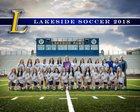 Lakeside Rams Girls Varsity Soccer Spring 17-18 team photo.