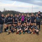 Hart County Bulldogs Girls Varsity Soccer Spring 17-18 team photo.