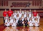 Millard South Patriots Girls Varsity Soccer Spring 17-18 team photo.