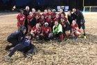 Piedmont Community Charter Patriots Girls Varsity Soccer Spring 17-18 team photo.