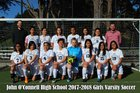 O'Connell Boilermakers Girls Varsity Soccer Spring 17-18 team photo.