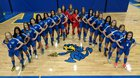 Warren Township Blue Devils Girls Varsity Soccer Spring 17-18 team photo.