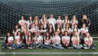 Vilonia Eagles Girls Varsity Soccer Spring 17-18 team photo.