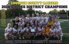 Loudoun County Raiders Girls Varsity Soccer Spring 17-18 team photo.