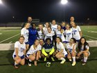 Lake Oconee Academy Titans Girls Varsity Soccer Spring 17-18 team photo.