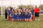 Lincoln Lynx Girls Varsity Soccer Spring 17-18 team photo.