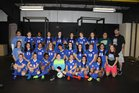 Arkadelphia Badgers Girls Varsity Soccer Spring 17-18 team photo.
