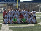 Wade Hampton Generals Girls Varsity Soccer Spring 17-18 team photo.