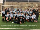 Juarez Eagles Girls Varsity Soccer Spring 17-18 team photo.